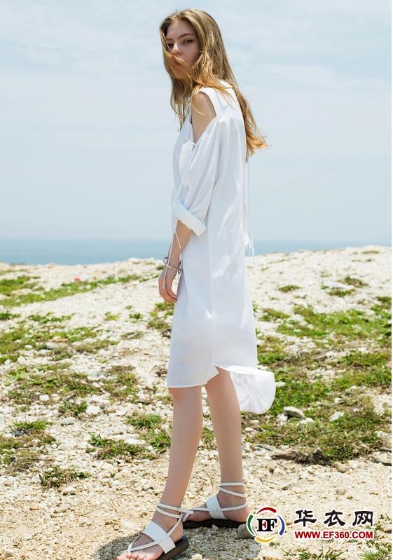 千姿惠女装17夏新品黑白碰撞演绎性感魅力【热点生活】